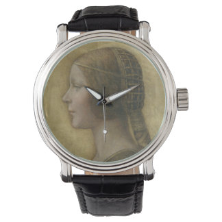 Retrato de un prometido joven de Leonardo da Vinci Relojes De Pulsera