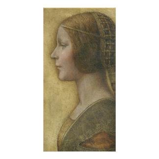Retrato de un prometido joven de Leonardo da Vinci Tarjetas Fotográficas