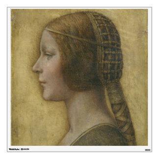 Retrato de un prometido joven de Leonardo da Vinci Vinilo Adhesivo