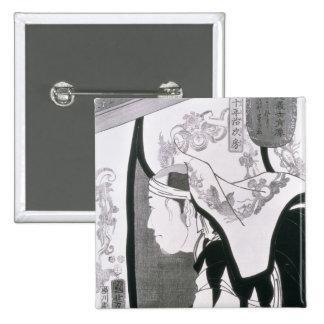 Retrato de un Ronin, de 'Seichin Gushi Shozo Pin Cuadrada 5 Cm