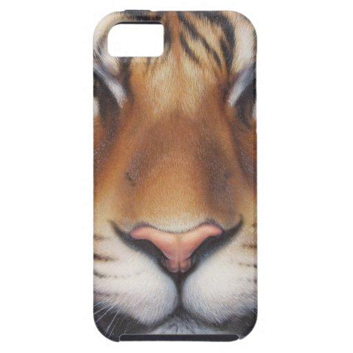 Retrato de un tigre iPhone 5 carcasas