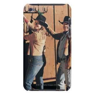Retrato de un vaquero y de una vaquera que arregla Case-Mate iPod touch protector