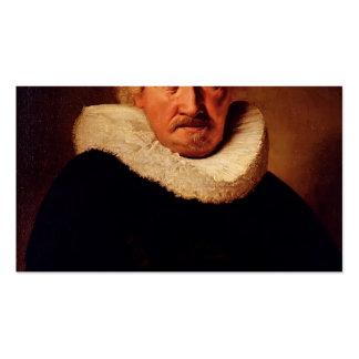 Retrato de un viejo hombre de Hans Holbein el más  Plantillas De Tarjetas De Visita