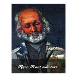 Retrato de un viejo hombre de Paul Cézanne Tarjeton