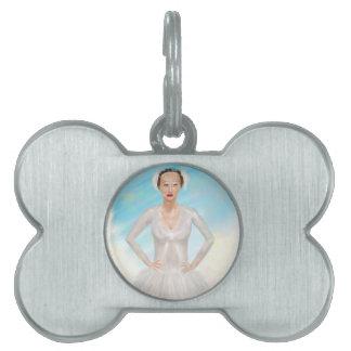 Retrato de una bailarina de Prima - pintura Placas De Mascota