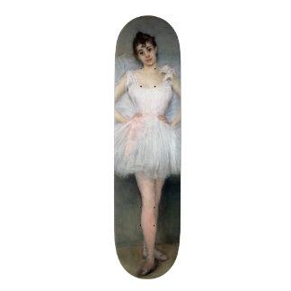 Retrato de una bailarina joven monopatín personalizado