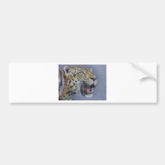 Retrato de una cabeza del tigre pegatina de parachoque