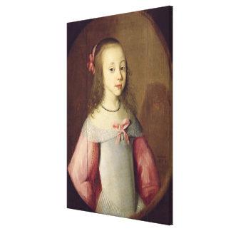 Retrato de una chica joven, 1651 lienzo envuelto para galerías