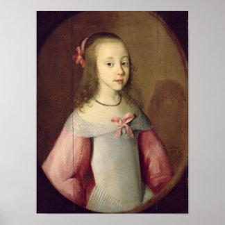 Retrato de una chica joven, 1651 póster