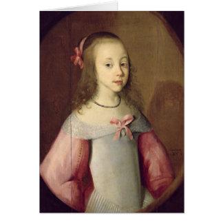 Retrato de una chica joven, 1651 tarjeta de felicitación