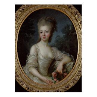 Retrato de una chica joven, 1775 postal