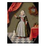 Retrato de una chica joven con un pájaro tarjetas postales