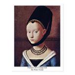 Retrato de una chica joven de Peter Cristo Postal