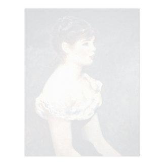 Retrato de una chica joven de Pierre-Auguste Plantillas De Membrete