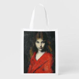 Retrato de una chica joven, el Shiverer Bolsa De La Compra
