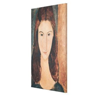 Retrato de una chica joven lona envuelta para galerías