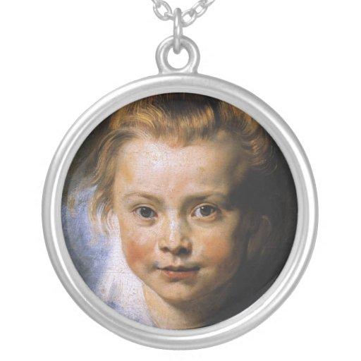 Retrato de una chica joven pendientes