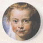 Retrato de una chica joven posavasos cerveza