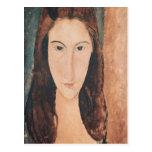 Retrato de una chica joven postal