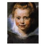 Retrato de una chica joven postales