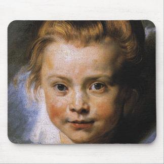 Retrato de una chica joven tapetes de raton