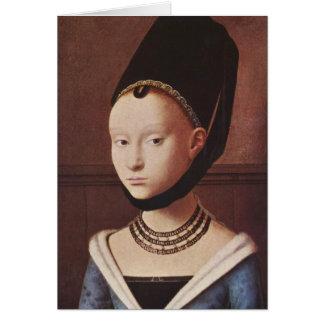 Retrato de una chica joven tarjeta de felicitación
