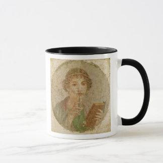 Retrato de una chica joven taza