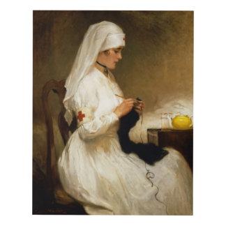 Retrato de una enfermera de la Cruz Roja Cuadro