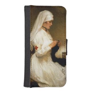 Retrato de una enfermera de la Cruz Roja Funda Tipo Billetera Para iPhone 5