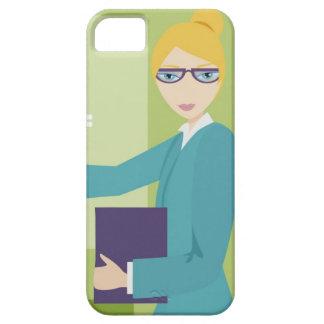 Retrato de una enseñanza de la mujer joven iPhone 5 fundas