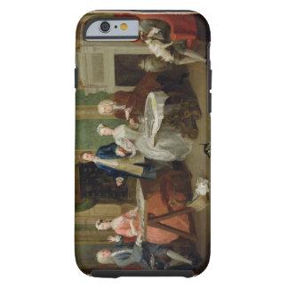Retrato de una familia, 1730s (aceite en lona) funda de iPhone 6 tough