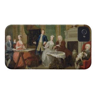Retrato de una familia, 1730s (aceite en lona) Case-Mate iPhone 4 carcasas