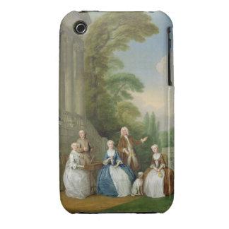 Retrato de una familia, 1740 (aceite en lona) iPhone 3 Case-Mate carcasas