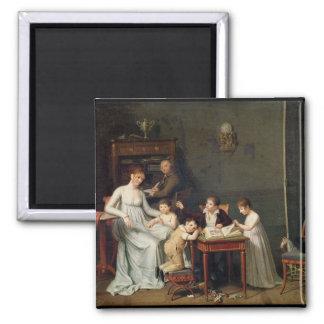 Retrato de una familia 1800-01 iman de frigorífico
