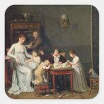 Retrato de una familia, 1800-01 colcomanias cuadradases