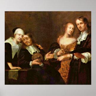 Retrato de una familia de Joaquín Kuhn Póster