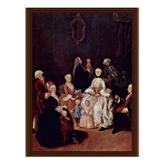 Retrato de una familia del Patrician de Longhi Tarjetas Postales