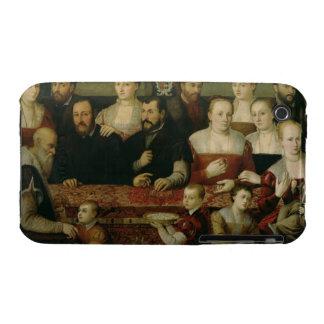 Retrato de una familia grande funda para iPhone 3
