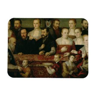 Retrato de una familia grande iman flexible