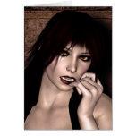 Retrato de una fantasía 3D del vampiro Tarjeta De Felicitación