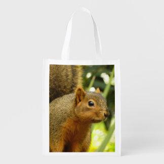 Retrato de una fotografía del animal de la bolsas reutilizables