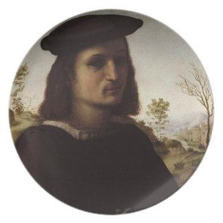 Retrato de una juventud con los guantes, 1514 (ace plato