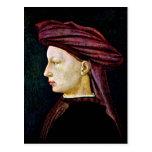Retrato de una juventud en perfil por Masaccio Postal