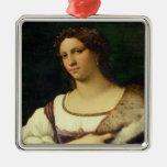 Retrato de una mujer, 1512 (aceite en lona) ornatos