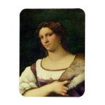 Retrato de una mujer, 1512 (aceite en lona) imanes
