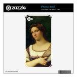 Retrato de una mujer, 1512 (aceite en lona) iPhone 4S skins