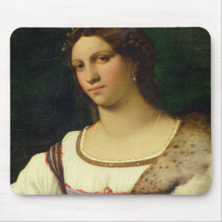 Retrato de una mujer, 1512 (aceite en lona) tapetes de raton