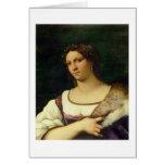 Retrato de una mujer, 1512 (aceite en lona) tarjeta