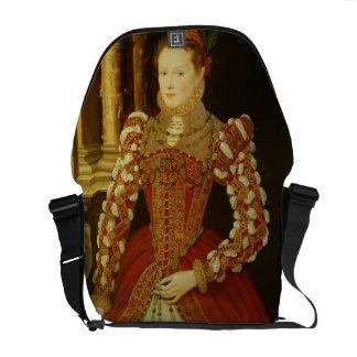 Retrato de una mujer, 1567 (aceite en el panel) bolsa de mensajería