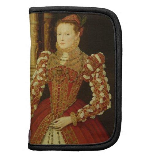 Retrato de una mujer, 1567 (aceite en el panel) planificadores